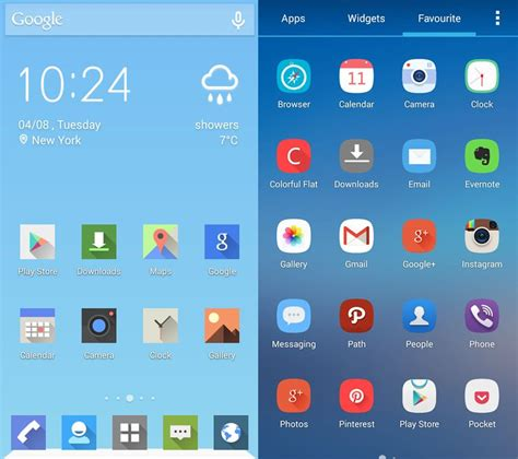 themes for android uptodown five launchers to change the look of your android device
