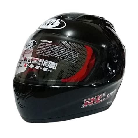 design helm half face jual kyt rc seven helm full face black metalik online