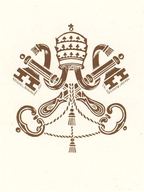 la santa sede chiaviincrociate decussate sormontate triregno