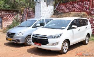 new car comparison side by side new innova crysta vs innova features specs comparison