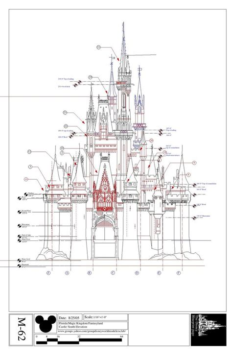castle blueprint disney imagineering blueprints for cinderella s castle