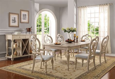 absolon french country dining room set   table