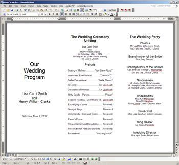 free printable wedding programs templates the template
