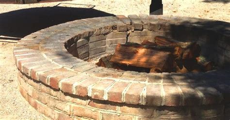 brick pit outdoors firepit ideas