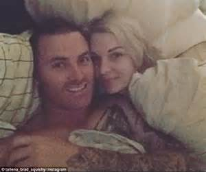 seven year switch s brad and tallena loved up pre seven year switch brad and tallena cuddle up in bed