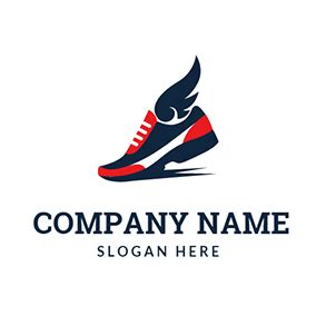 athletic shoes logo free running logo designs designevo logo maker