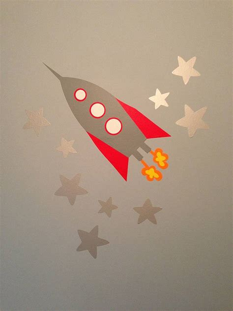 rocket wall sticker rocket wall stickers by the blue owl
