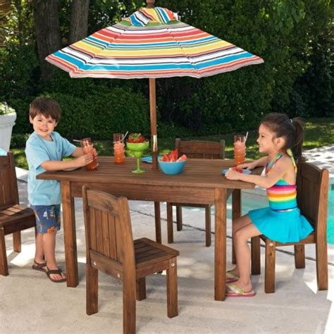childrens outdoor chairs and table kidkraft outdoor table and 4 stacking chairs with striped