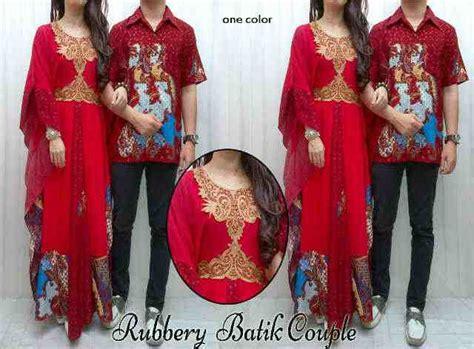 Cp Batik Merah baju batik rubbery cp 572 gamis pasangan