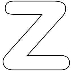 printable lower alphabet letter z template for
