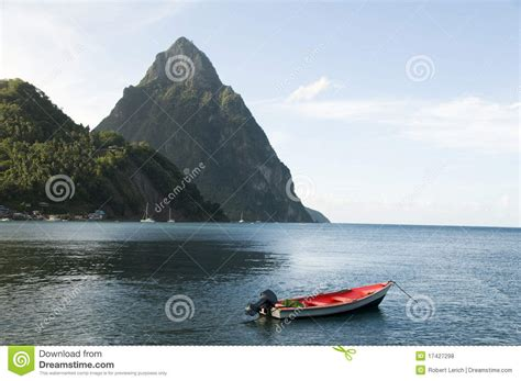 caribbean fishing boat plans soufriere st lucia piton peaks fishing boat royalty free