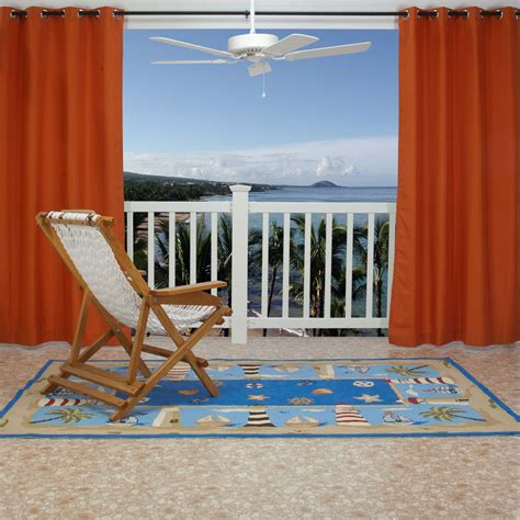 orange outdoor curtains orange polyester outdoor curtain with grommets 50 x 84