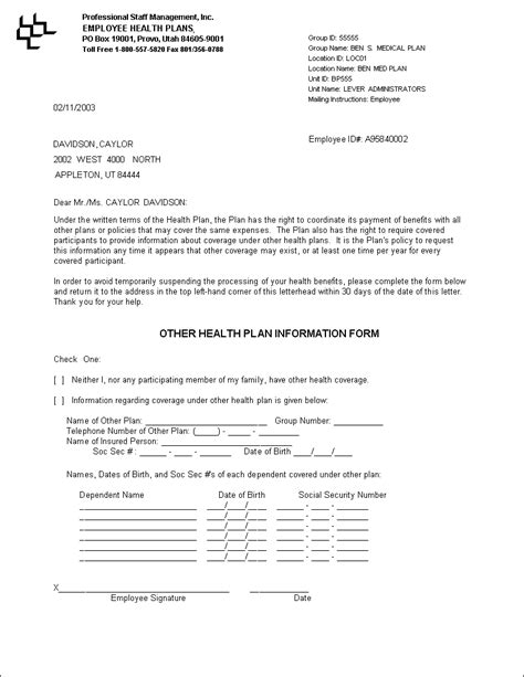 Sle Proof Of Health Insurance Letter Qualads Proof Of Health Insurance Letter Template