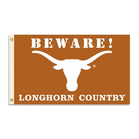 longhorn colors longhorns 3 x 5 beware flag