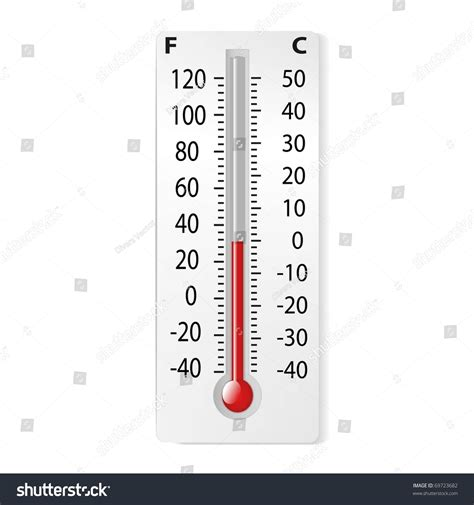 Termometer Celcius there thermometer degrees celsius fahrenheit vector stock