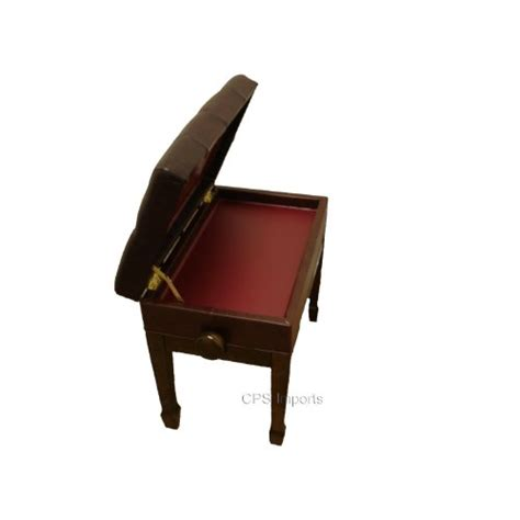 artist piano bench adjustable genuine leather artist piano bench in walnut