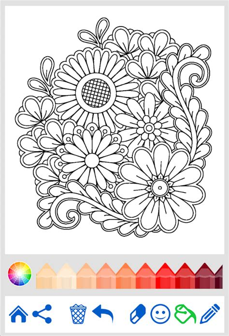 mandala coloring book flowers mandala coloring book android apps on play