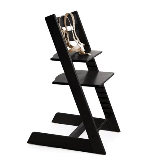 Black High Chair by Stokke Tripp Trapp High Chair In Black