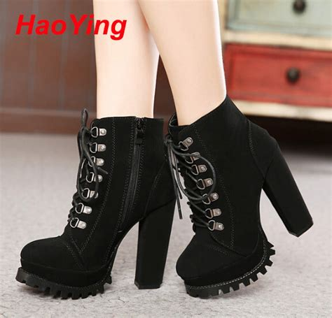 womens motorcycle boots with heels heels winter lace up boots high heels boots