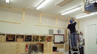 garage overhead storage shelves design cabi shelf systems mobile plans
