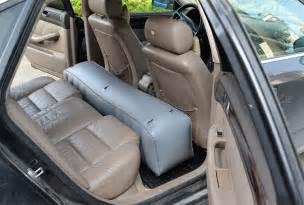 auto matratze car back seat air bed mattress pillow grey