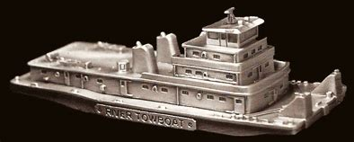 towboat treasures pewter towboat paperweight