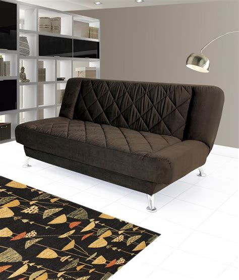 sofa cum bed price in chennai effa sofa cum bed in brown flat 34 off snapdeal dealshut