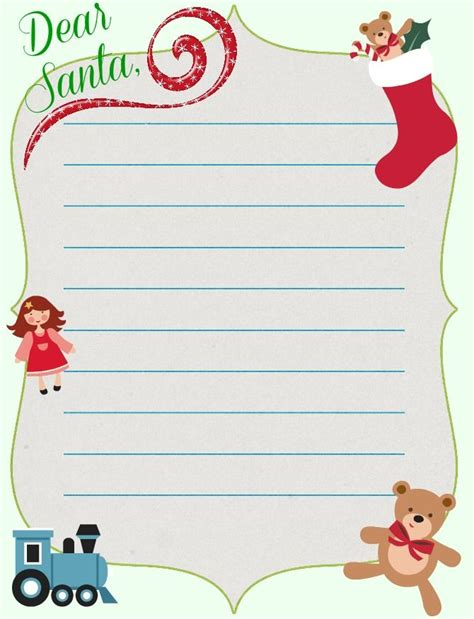 dear santa letter template images 9 best images of free printable letter templates