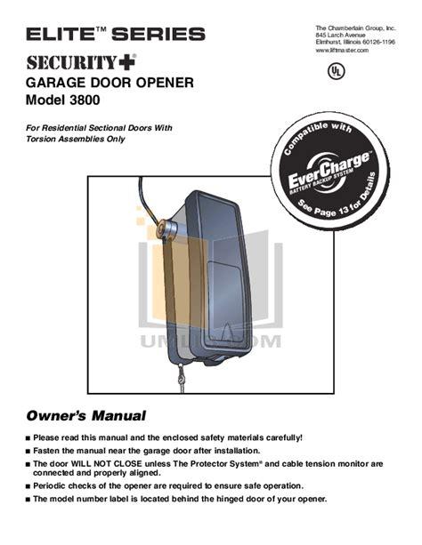 free pdf for chamberlain 3500 garage door openers