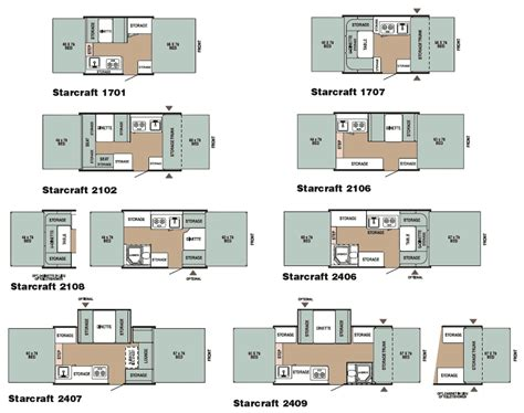 starcraft rv floor plans starcraft folding cing trailer floorplans large picture