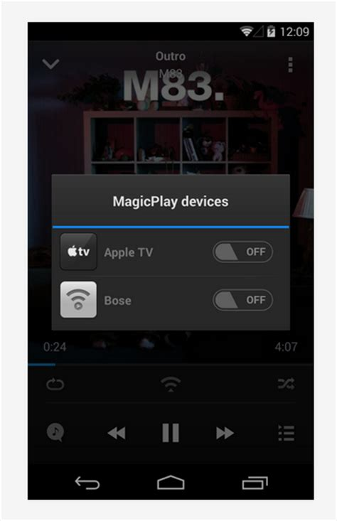 android airplay from android devices to apple tv or airplay speakers with doubletwist s magicplay