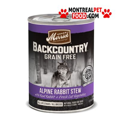 merrick backcountry food merrick backcountry canned food rabbit stew montreal pet food