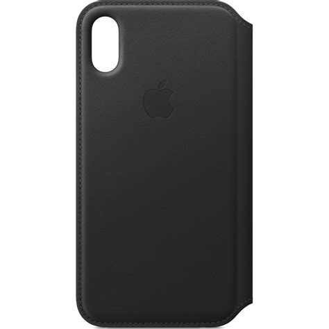Apple Iphone X Leather Black apple iphone x leather folio black mqrv2zm a b h photo