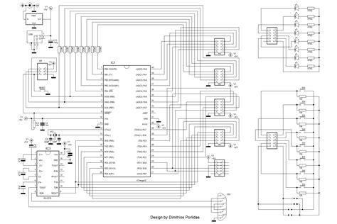 pull up resistor parallel port avr atmega16 32 64 development board