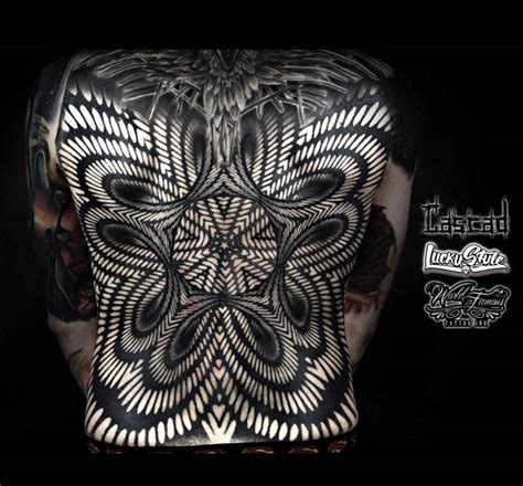 pattern head tattoo abstract 3d pattern on guys back best tattoo design ideas