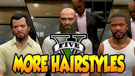 hairstyles and beards gta v gta 5 more character hairstyles michael trevor