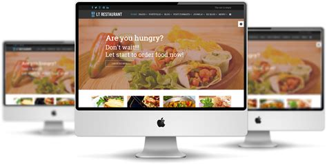 Lt Restaurant Free Food Center Hikashop Joomla Template Restaurant Website Template With Ordering