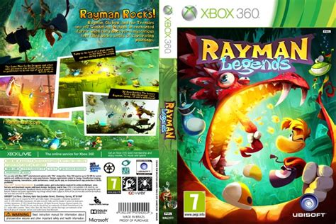rayman legends xbox 360 cover rayman legends xbox 360 box art cover by wellyson