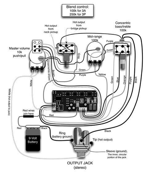 comfortable passive bass guitar wiring diagram