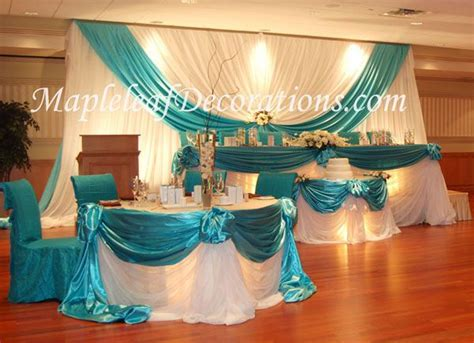 Burlap Table Skirt Toronto Wedding Decorations Custom Backdrop And Head