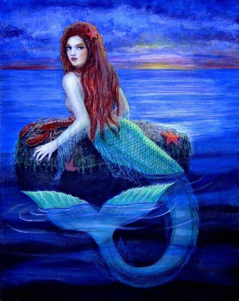 mermaid painting mermaids