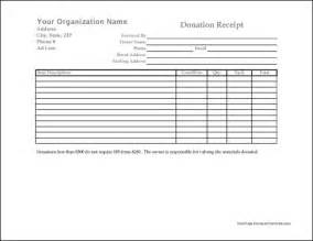 Free donation receipt from formville charity donation form template