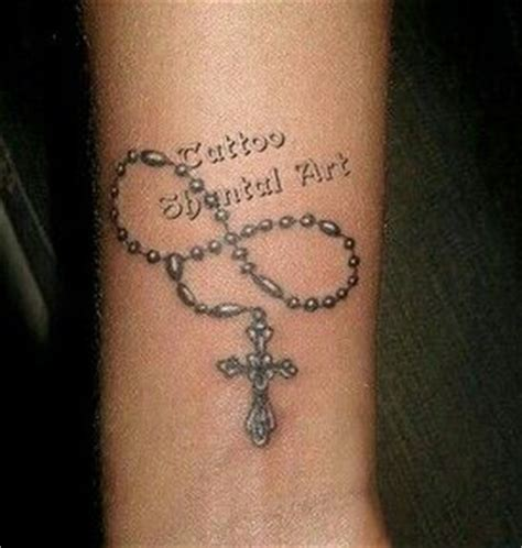 delicate pretty rosary tattoo tatto ideas pinterest