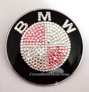Pink Bmw Emblem Pink Bmw Emblem Bonnet Badge Made With Swarovski Crystals