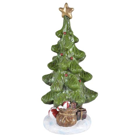 christmas tree sparkling resin figurine decoration snow