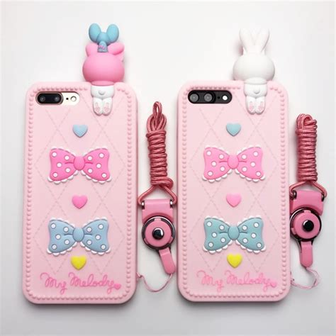 Iphone 6 6s 3d Doraemon 1 Soft Silicon Back Co Limited for iphone 6 6s 7 plus 3d silicone rabbit cat soft back cover phone accessories