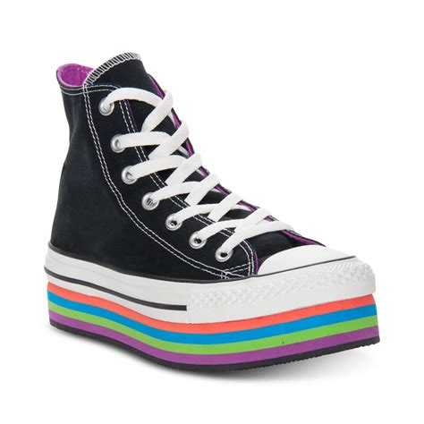 converse chuck platform ox casual sneakers in black