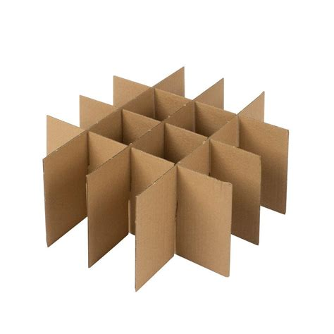 Origami Box With Divider - origami moving glass divider kit the home depot box with
