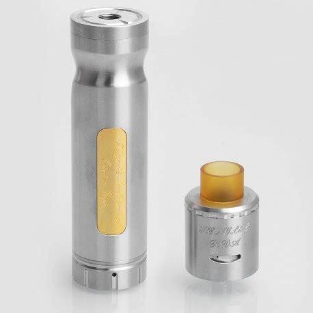 authentic centsu vape hanglee silver ss 24mm mechanical mod rda kit