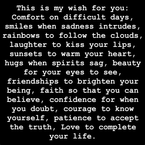 comforting love quotes my wish for you quotes and sayings quotesgram